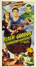 "Movie Posters:Serial, Flash Gordon Conquers the Universe (Universal, R-1947). Three Sheet(41"" X 81"").. ..."