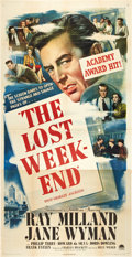 "Movie Posters:Academy Award Winners, The Lost Weekend (Paramount, 1945). Three Sheet (41"" X 81"").. ..."