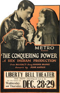 "Movie Posters:Drama, The Conquering Power (Metro, 1921). Die-Cut Window Card (13.25"" X20.75"").. ..."