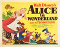 "Movie Posters:Animation, Alice in Wonderland (RKO, 1951). Half Sheet (22"" X 28""). Style B...."