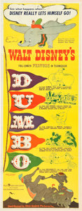 "Movie Posters:Animation, Dumbo (RKO, 1941). Insert (14"" X 36"").. ..."