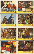 "Movie Posters:Western, Stagecoach (United Artists, R-1948). Lobby Card Set of 8 (11"" X 14"").. ... (Total: 8 Items)"