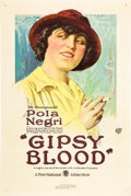 "Movie Posters:Drama, Gipsy Blood (First National, 1921). One Sheet (27"" X 41"").. ..."