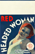 "Movie Posters:Comedy, Red Headed Woman (MGM, 1932). Window Card (14"" X 22"").. ..."