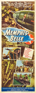 "Movie Posters:War, The Memphis Belle (Paramount, 1944). Insert (14"" X 36"").. ..."
