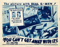 """Movie Posters:Crime, You Can't Get Away With It! (Universal, 1936). Title Lobby Card(11"""" X 14"""").. ..."""