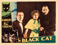 "Movie Posters:Horror, The Black Cat (Universal, 1934). Lobby Card (11"" X 14"").. ..."