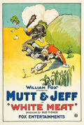 "Movie Posters:Animated, Mutt and Jeff in ""White Meat"" (Fox, 1921). One Sheet (27"" X 41"")....."