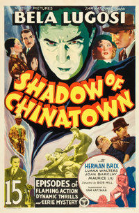"Shadow of Chinatown (Victory, 1936). Stock One Sheet (27"" X 41""). Serial"