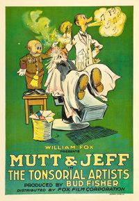 "Mutt and Jeff in ""The Tonsorial Artists"" (Fox, 1918). One Sheet (27"" X 41"")"