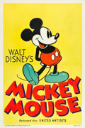 "Movie Posters:Animated, Mickey Mouse Stock Poster (United Artists, 1932). One Sheet (27"" X 41"").. ..."