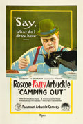 "Movie Posters:Comedy, Camping Out (Paramount, 1919). One Sheet (27"" X 41"").. ..."