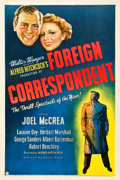 "Movie Posters:Hitchcock, Foreign Correspondent (United Artists, 1940). One Sheet (27"" X 41"").. ..."
