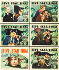 "Movie Posters:Drama, Five Star Final (First National, 1931). Title Lobby Card and LobbyCards (5) (11"" X 14"").. ... (Total: 6 Items)"