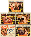 "Movie Posters:Drama, Private Lives (MGM, 1931). Title Lobby Card and Lobby Cards (4)(11"" X 14"").. ... (Total: 5 Items)"