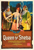 "Movie Posters:Adventure, Queen of Sheba (Fox, 1921). One Sheet (27"" X 41"").. ..."