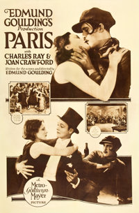 "Paris (MGM, 1926). Rotogravure One Sheet (27.75"" X 42.5"")"