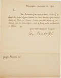 "Autographs:Statesmen, Edmund Randolph Letter Signed as Secretary of State. One page,7.75"" x 9.75"", Philadelphia, November 24, 1794. ..."