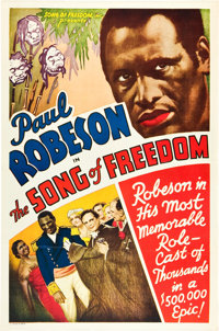 """Song of Freedom (Song of Freedom, Inc., 1936). One Sheet (27"""" X 41"""")"""