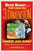 "Movie Posters:Animation, Lumber Jack-Rabbit (Warner Brothers, 1954). One Sheet (27"" X 41"").3-D Style.. ..."