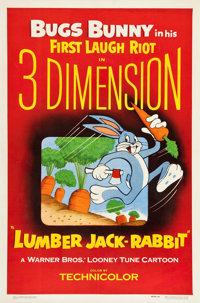 """Lumber Jack-Rabbit (Warner Brothers, 1954). One Sheet (27"""" X 41""""). 3-D Style"""