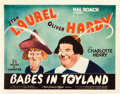 "Movie Posters:Comedy, Babes in Toyland (MGM, 1934). Title Lobby Card (11"" X 14"").. ..."