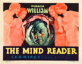 "Movie Posters:Drama, The Mind Reader (First National, 1933). Title Lobby Card (11"" X14"").. ..."