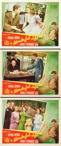 "Movie Posters:Drama, It's a Wonderful Life (RKO, 1946). Lobby Cards (3) (11"" X 14"")..... (Total: 3 Items)"