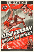 """Movie Posters:Serial, Flash Gordon Conquers the Universe (Universal, 1940). One Sheet(27"""" X 41""""). Chapter 10 -- """"The Death Mist."""". ..."""