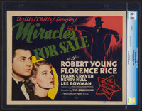 "Miracles for Sale (MGM, 1939). CGC Graded Title Lobby Card (11"" X 14""). Comedy"