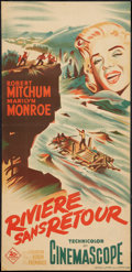 "Movie Posters:Adventure, River of No Return (20th Century Fox, 1954). French Poster (14.5"" X30.25""). Adventure.. ..."