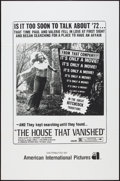 """Movie Posters:Horror, The House That Vanished (American International, 1974). One Sheet (27"""" X 41""""). Horror.. ..."""