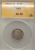 Chile: , Chile: New Style Condor 1 Real 1843-So-IJ, ...
