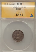 Chile, Chile: Condor 1 Real 1848-So-JM,...