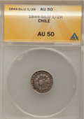 Chile, Chile: New Style Condor 1/2 Real 1844-IJ,...