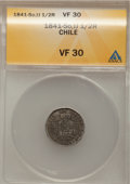 Chile, Chile: Condor 1/2 Real 1841-So-IJ,...