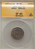 Chile, Chile: Condor 1 Real 1840-IJ,...