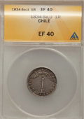 Chile, Chile: Volcano 1 Real 1834-So-IJ, ...