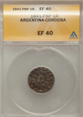 Argentina, Argentina: Cordoba Pair of 1 Real, ... (Total: 2 coins)