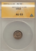 Chile, Chile: Pair of Condor 1/2 Reales,... (Total: 2 coins)