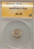 Argentina: , Argentina: La Rioja Pair of 1/2 Real 1854-B,... (Total: 2 coins)