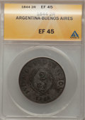 Argentina, Argentina: Copper Bs As Trio of 2 Reales, ... (Total: 3 coins)