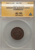 Argentina, Argentina: Buenos Aires Pair of copper 1840,... (Total: 2 coins)