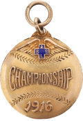 Baseball Collectibles:Others, 1916 A.S.L.S. Baseball Championship Medal...