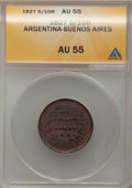 Argentina, Argentina: Buenos Aires Pair of 5/10 Real,... (Total: 2 coins)