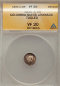 Colombia, Colombia: Cundinamarca Liberty 1/4 Real 1820,...
