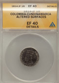 Colombia, Colombia: LIBERTAD AMERICANA 1 Real 1814-JF,...