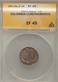 Colombia: , Colombia: Cundinamarca 1 Real 1821-Ba-JF,...