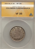 Colombia, Colombia: Cundinamarca 2 Reales 1821-Ba-JF,...
