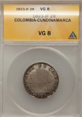 Colombia, Colombia: Cundinamarca 2 Reales 1823-JF,...